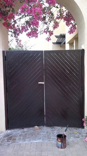 Door polishing