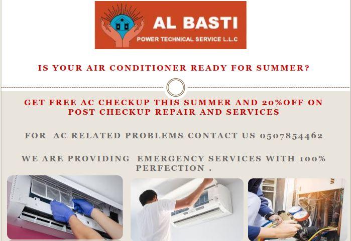 Free AC Checkup Services Dubai